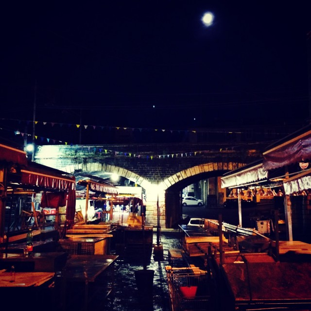 """Fish market by night"" stock image"