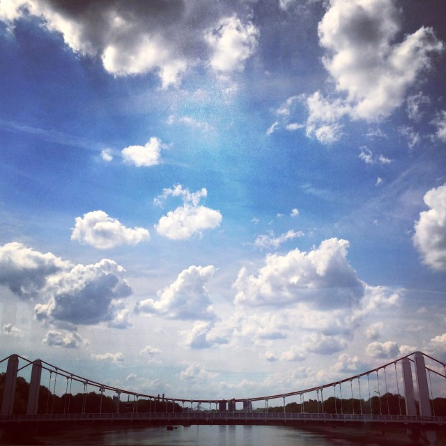 """Beautiful Blighty bridge"" stock image"