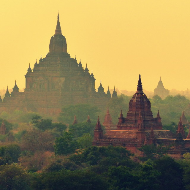 """Bagan Sunset"" stock image"