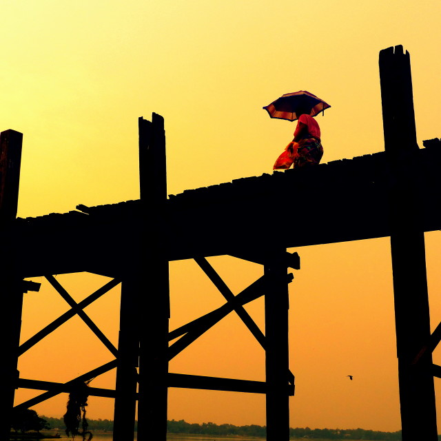"""U Bein Bridge"" stock image"