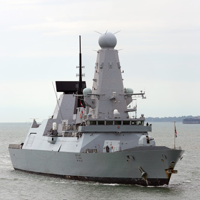 """HMS Dragon"" stock image"