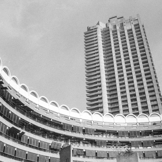 """Barbican Curve"" stock image"