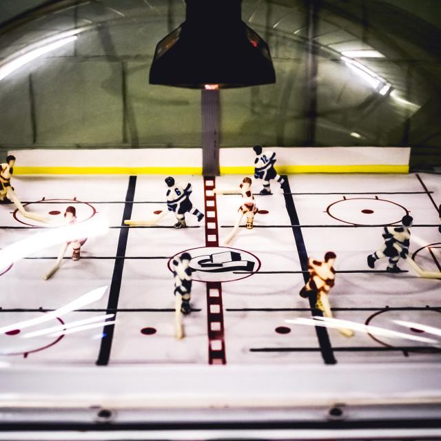 """""""Bubble Hockey Mayhem"""" stock image"""