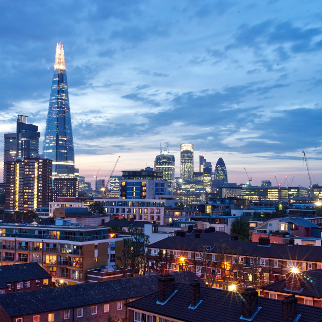 """London Skyline and Shard"" stock image"