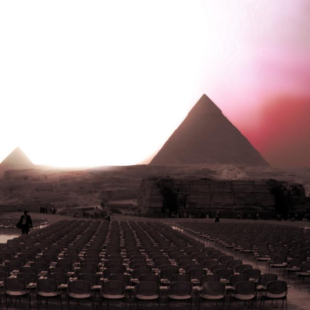 """""""Pyramids Panorama"""" stock image"""