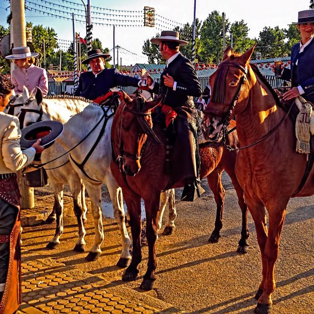 """""""Four horsemen of Seville"""" stock image"""