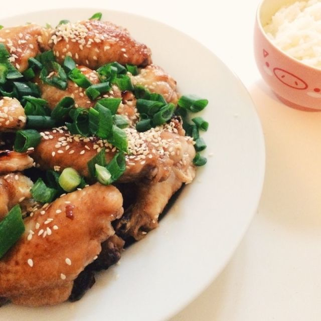 """Honey soy chicken"" stock image"