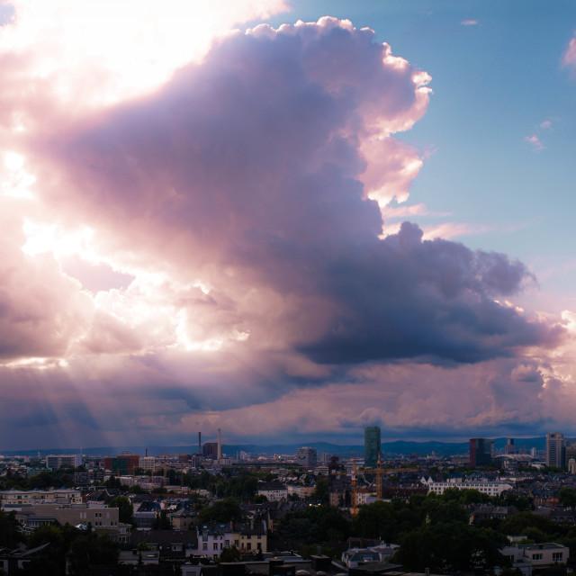 """Frankfurt Skyline Panorama"" stock image"