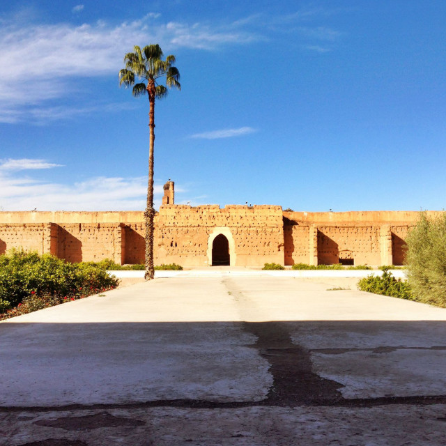 """El Badi Palace"" stock image"