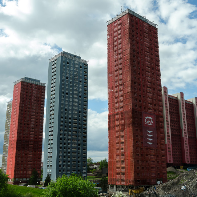 """""""Red Road Flats"""" stock image"""