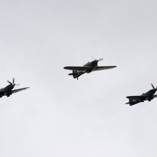 """""""Spitfires And Hurricane"""" stock image"""