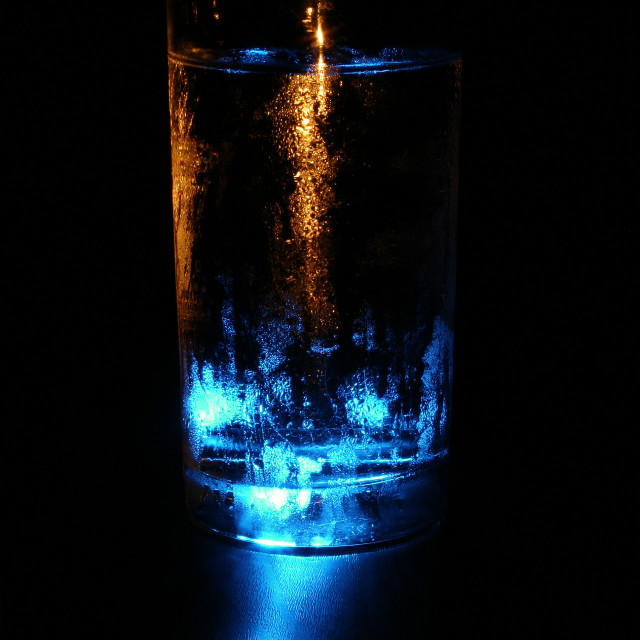 """Illuminated Water"" stock image"