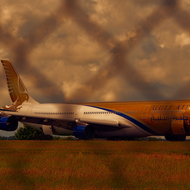 """Gulf Air"" stock image"