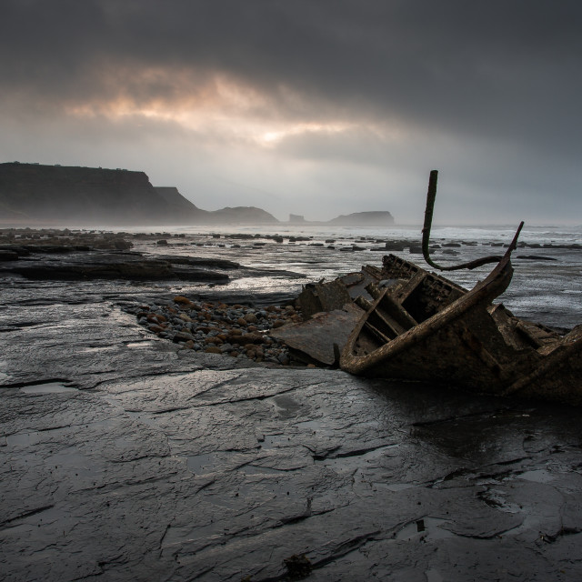 """Moody Saltwick Bay"" stock image"