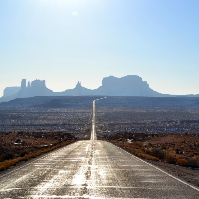 """Road to Monument Valley"" stock image"