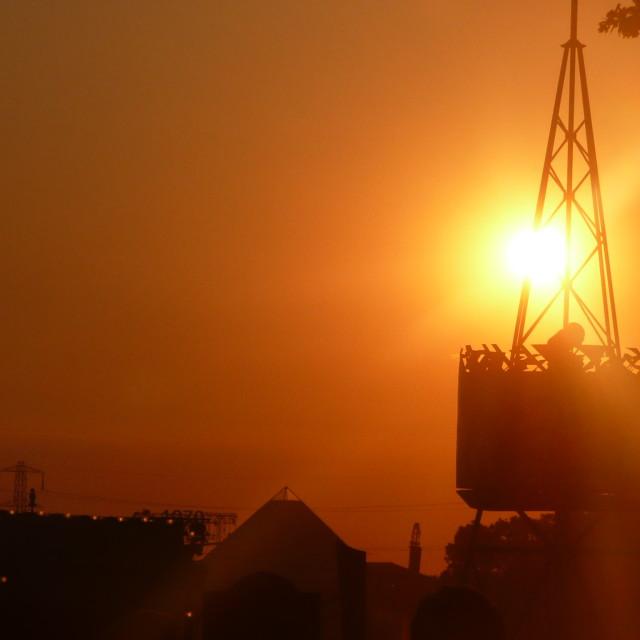 """""""Glastonbury Sunset"""" stock image"""