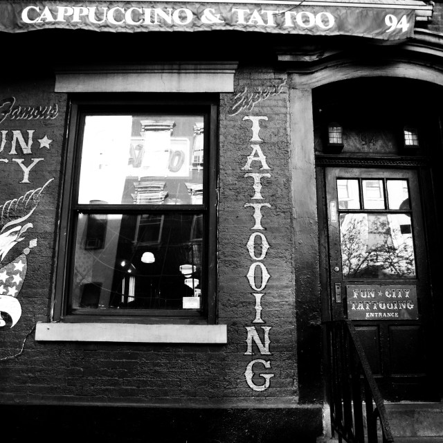 """Cappuccino & Tattoo"" stock image"