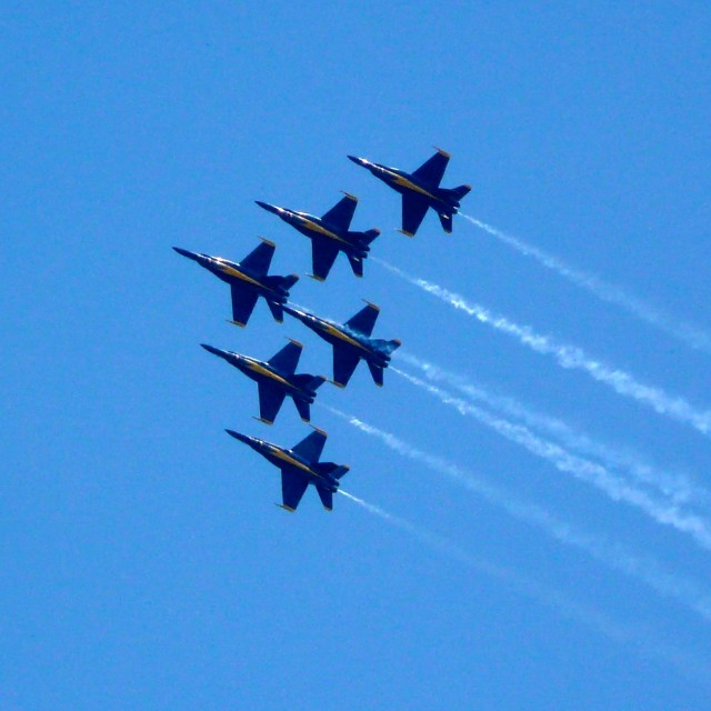 """Blue Angels"" stock image"
