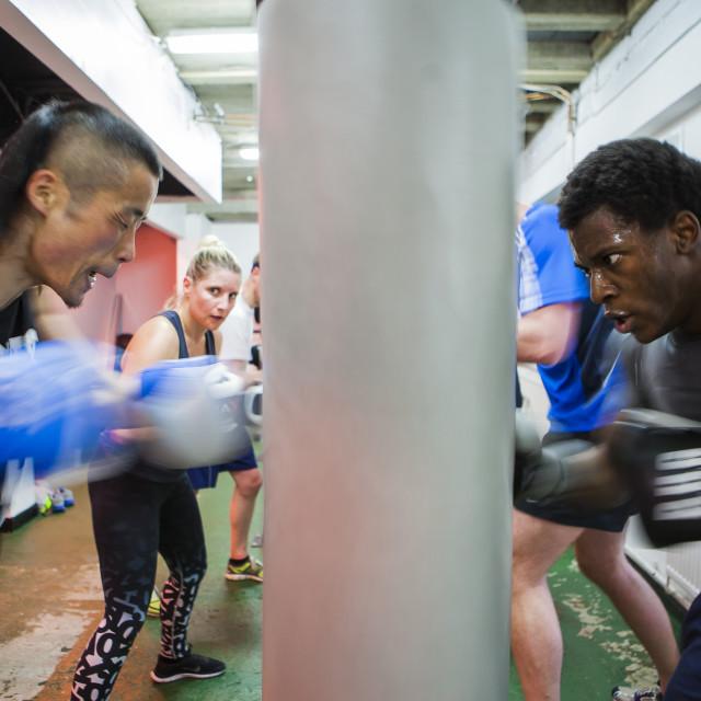 """""""Boxing Training"""" stock image"""