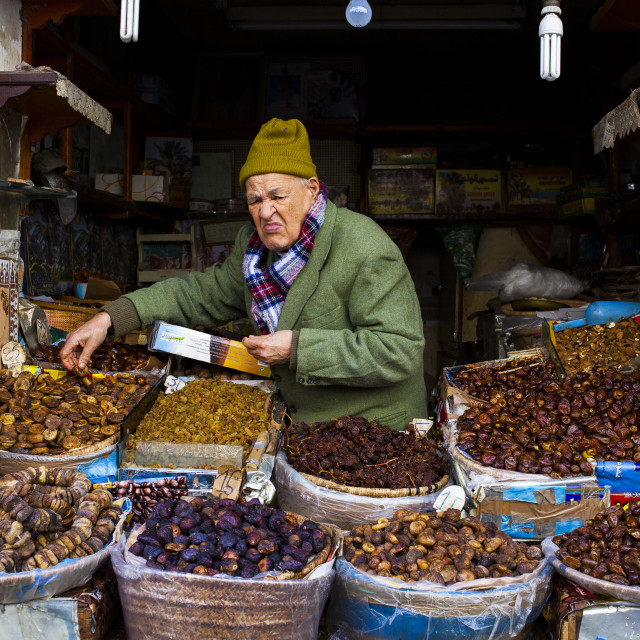 """Nuts and Fruit Vendor"" stock image"