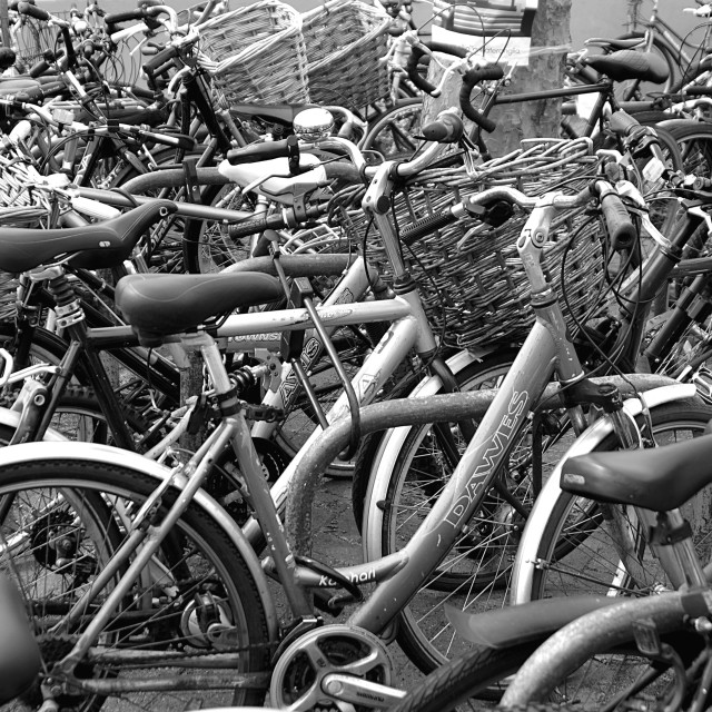"""Bicycles"" stock image"