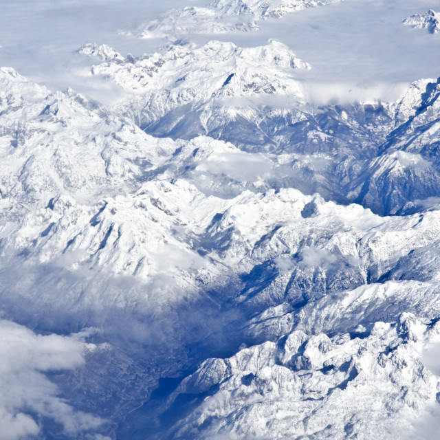 """High Mountains from Above"" stock image"