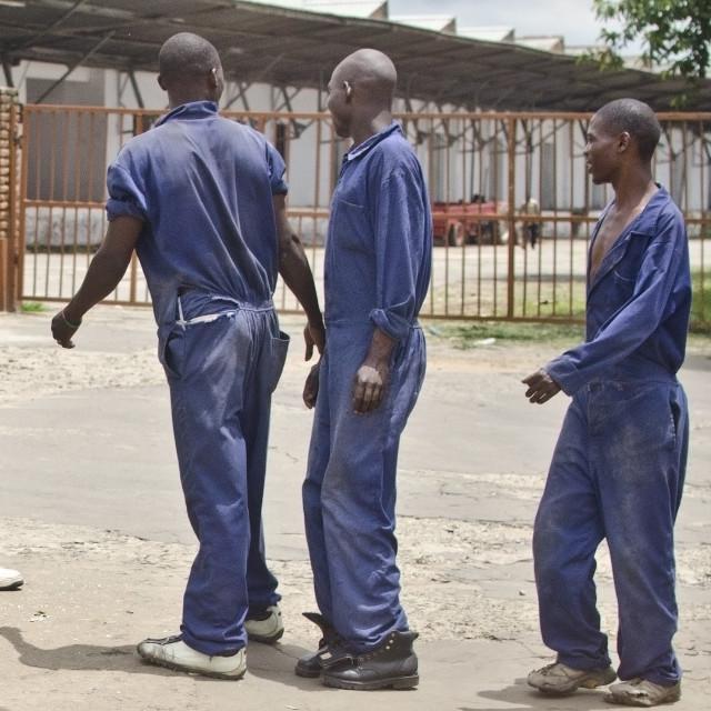"""Malawian Labourers"" stock image"