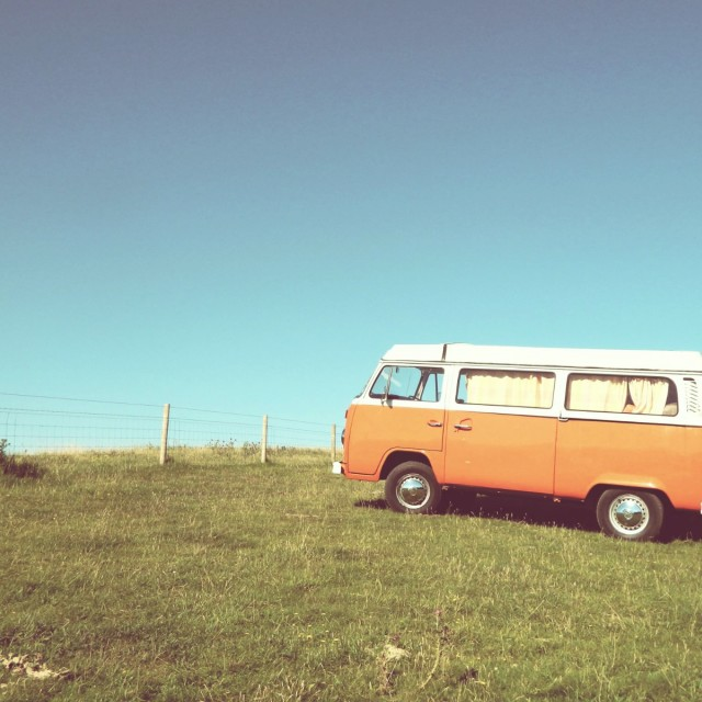 """Orange Camper"" stock image"