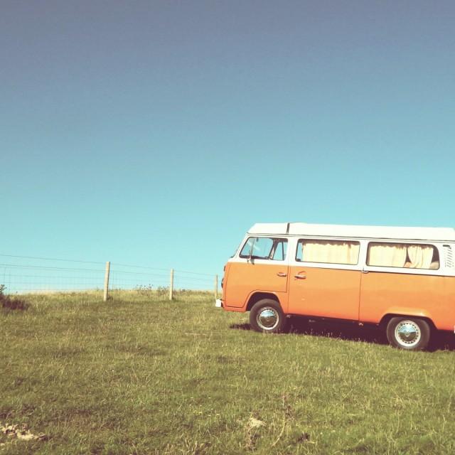 """Orange Camper"" stock image"