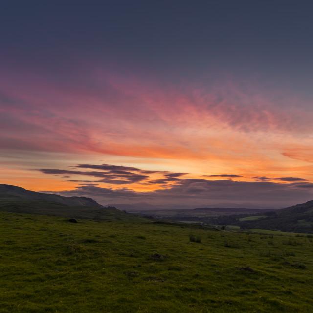 """""""Scottish Sunset"""" stock image"""