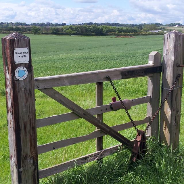 """Please shut the gate?"" stock image"