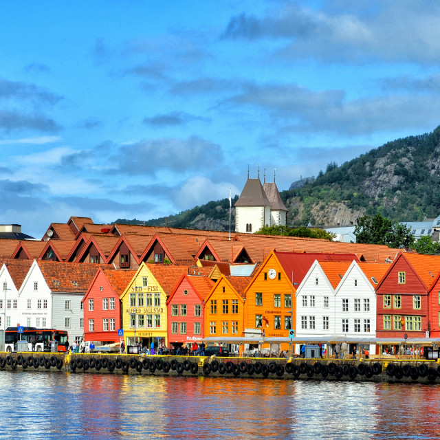 """The Bryggen"" stock image"