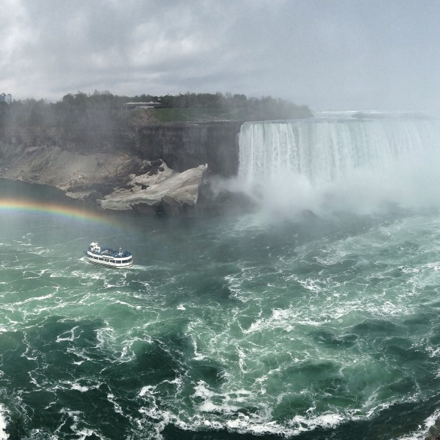 """""""Niagara Falls wide"""" stock image"""