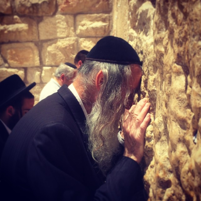 """Praying, Western Wall"" stock image"