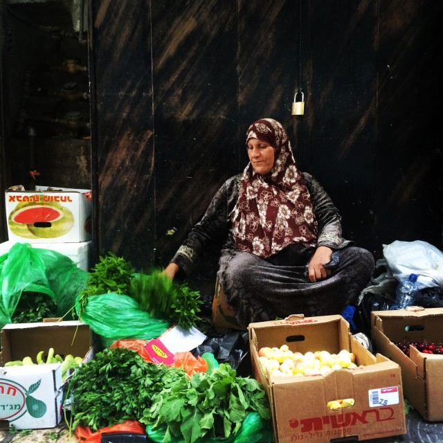 """Selling vegetable in the Muslim Quarter"" stock image"