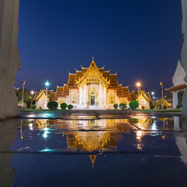 """Benjamaborpit Temple , Bangkok Thailand"" stock image"