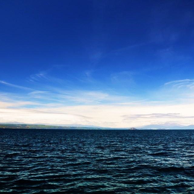 """""""Lake Taupo"""" stock image"""
