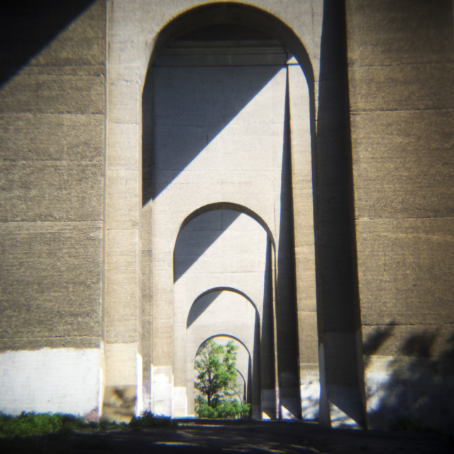 """""""Hellgate Arches"""" stock image"""
