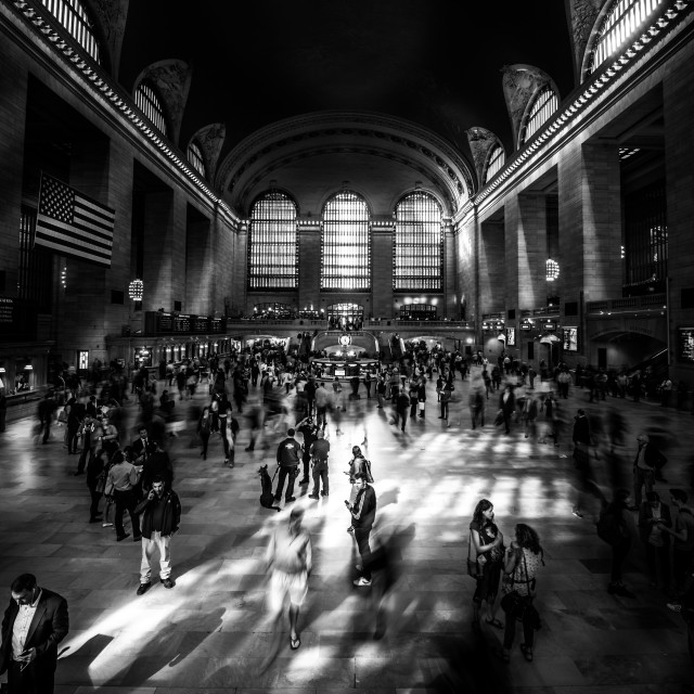 """Stepping into the light- Grand Central Station"" stock image"