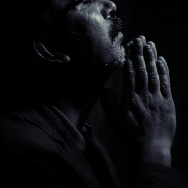 """Man Praying"" stock image"