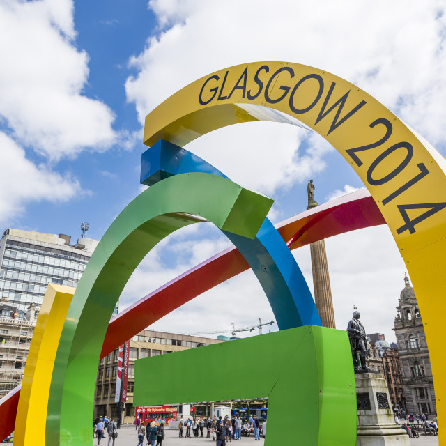 """Glasgow Commonwealth Games Logo"" stock image"