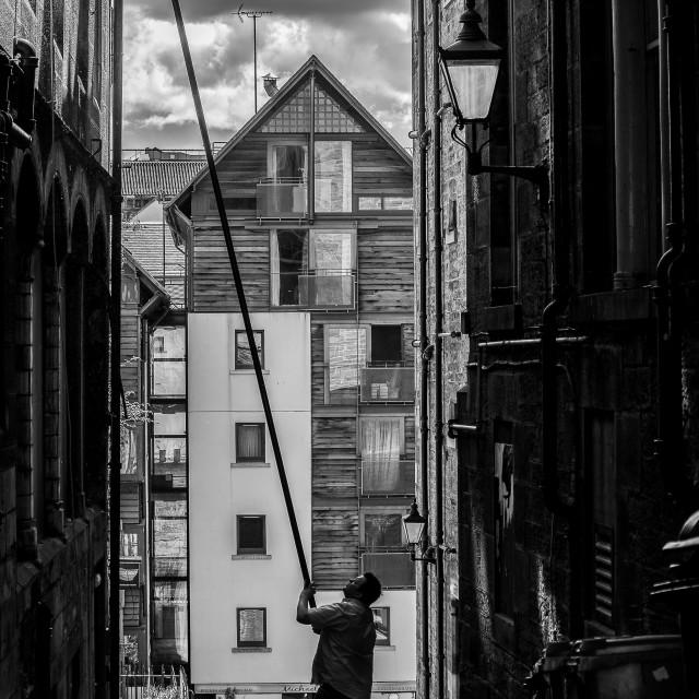 """Edinburgh Close"" stock image"