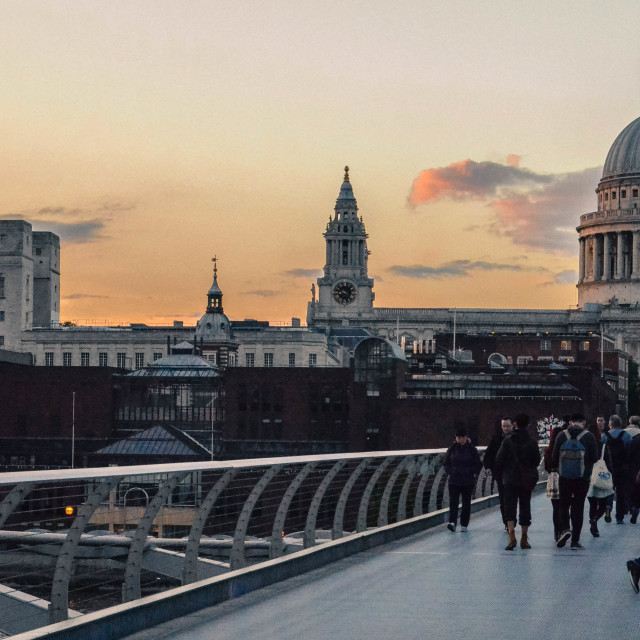 """Sunset London"" stock image"