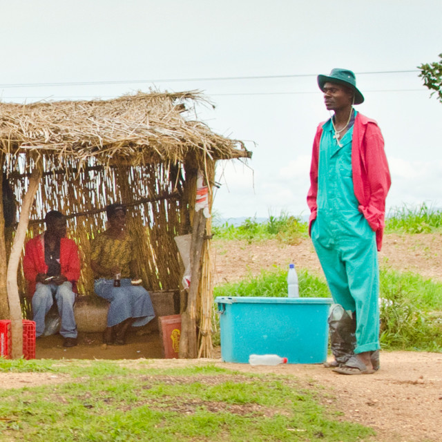 """Malawian Coca Cola Seller"" stock image"