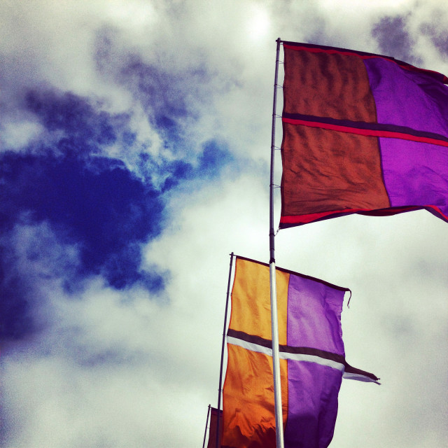 """Flags A-Flying"" stock image"