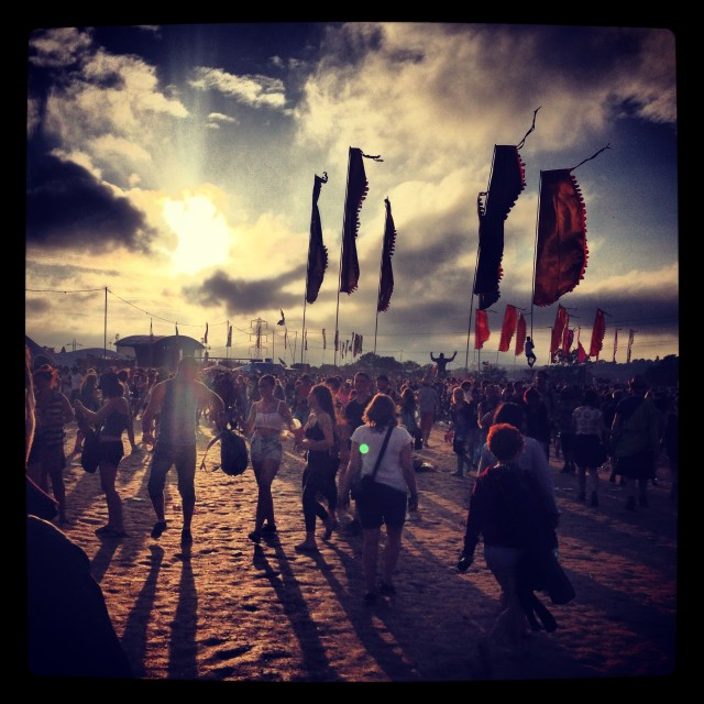 """Sundown at Glasto"" stock image"