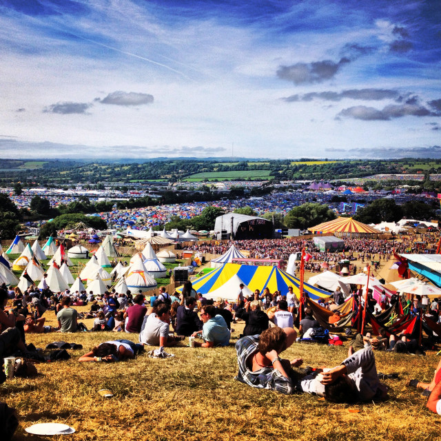"""View from The Park, Glastonbury"" stock image"