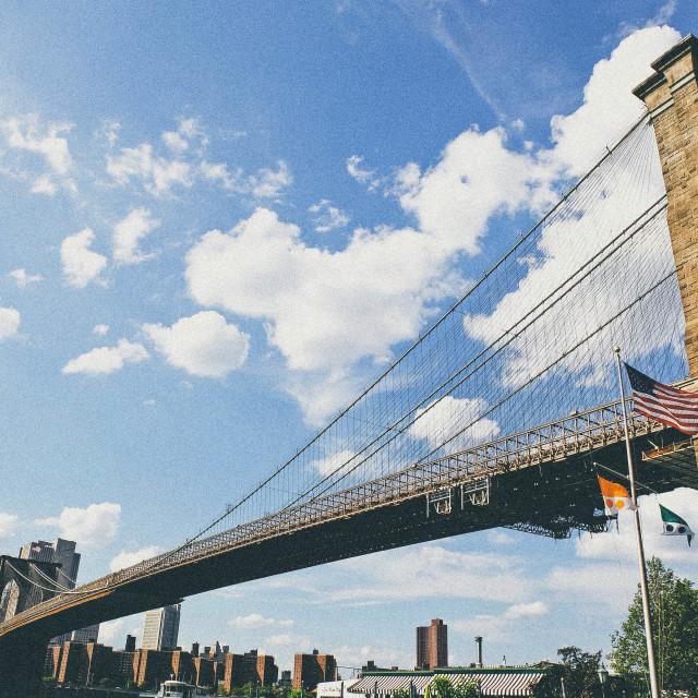 """""""Take 2, Brooklyn Bridge"""" stock image"""