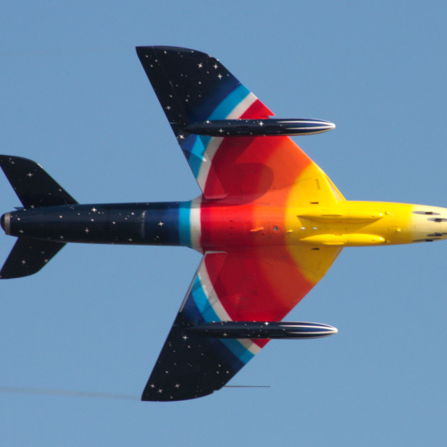 """Hawker Hunter Miss Demeanour"" stock image"