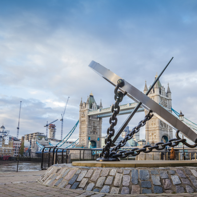 """""""Tower Bridge Chained"""" stock image"""